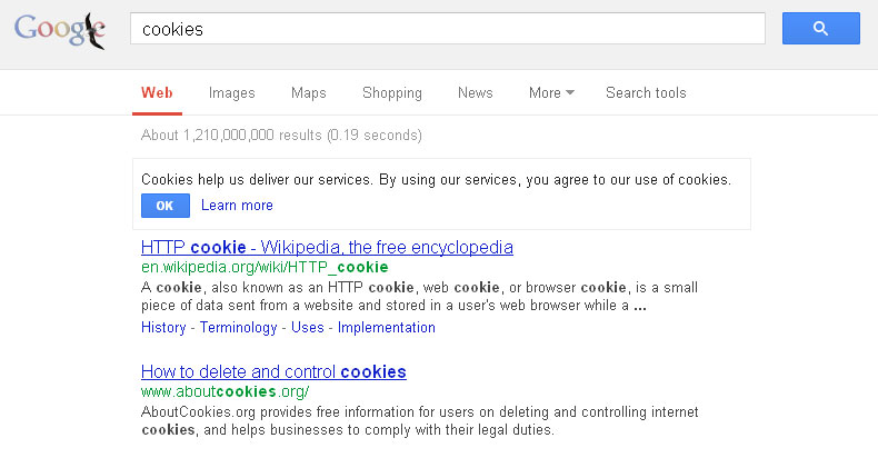 Google Cookie Opt In