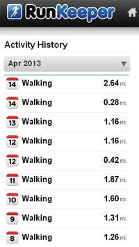 RunKeeper Lunchtime Challenge